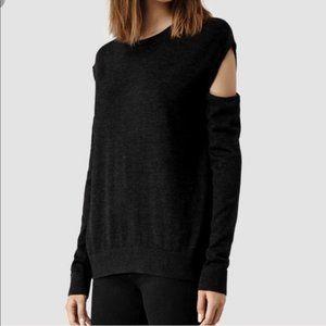 AllSaints Elion Cold Shoulder Pullover Sweater